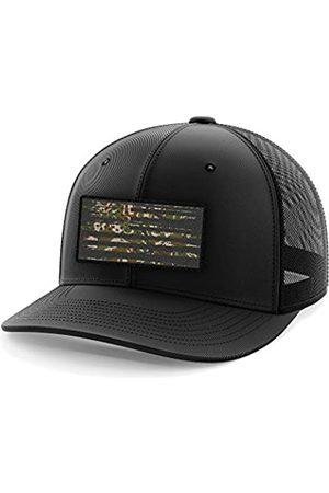 Tactical Pro Supply Flexfit Hut mit amerikanischer Flagge. - Schwarz - L/XL