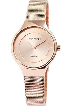 Just Watches Damen Analog Quarz Uhr mit Edelstahl Armband JW10004-003