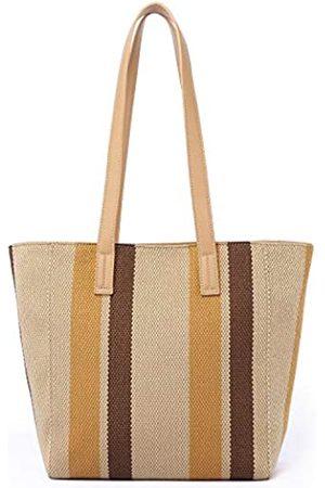 KOWENTIK Tote Bag Schultertasche Handtaschen für Frauen Canvas Tote Strand Reise Wochenendtasche, (camel)