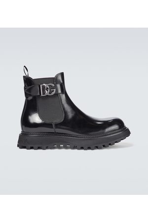 Dolce & Gabbana Ankle Boots aus Lackleder