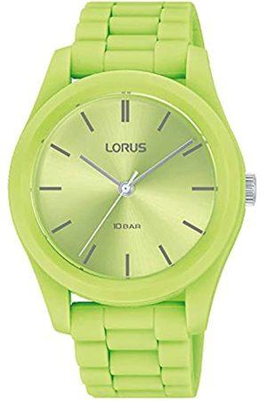 Lorus Damen Analog Quarz Uhr mit Silicone Armband RG265RX9