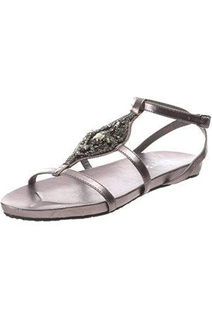 2 Lips Too Too Glamour Damen Sandalen mit Knöchelriemen, Grau (Zinnfarben)