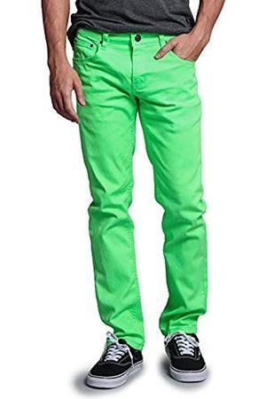 VICTORIOUS Herren Stretch - Herren Skinny Fit Color Stretch Jeans - Gr�n - 32W / 32L