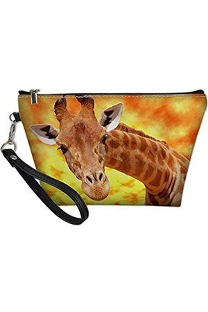 Amzbeauty Make-up-Tasche mit Leopardenmuster und Mops, PU-Leder
