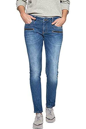 ATT Damen Slim Fit Jeans Mit Zier Reißverschlüssen Lindsey Basic Used Lindsey