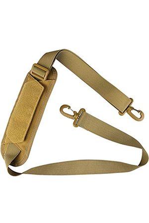 "AMYIPO Luggage Duffel Bag Shoulder Pad 52"" Universal Replacement Laptop Adjustable Shoulder Strap for Duffel Bag Strap Computer Bags Laptop Case Crossbody Bag Strap Pet Carrier (Tan & Strap)"