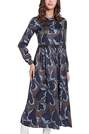 Apart Damen Printed Dress L ssiges Kleid, -multicolor