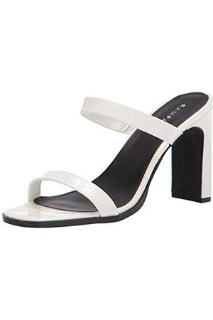 Rampage Women's Jolene Heeled Mule Sandal, WHITE