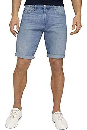 TOM TAILOR Herren 1025042 Josh Denim Bermuda Shorts, 10280-Light Stone Wash
