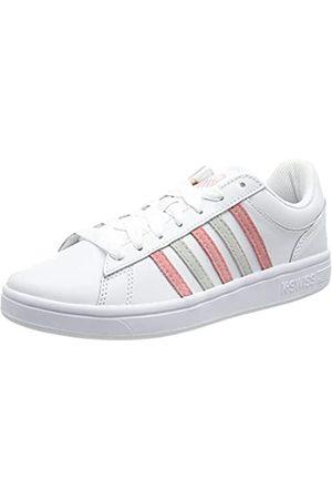 K-Swiss Damen Court Winston Sneaker, WHT/FLMNGPNK/LNRCK