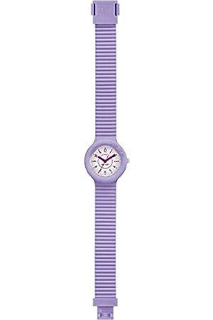 Hip Armbanduhr Frau Numbers Collection quadrante Weiss e uhrarmband in silikon lila