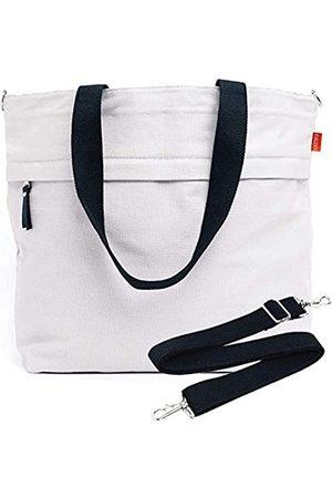 Caldo Canvas Market Tote – Große Reisetasche mit Außentasche mit Reißverschluss und verstellbarem Schultergurt (früher Abbot Fjord) (Grau) - TOTEMODEL4