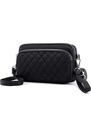 Collsants Kleine Nylon Crossbody Geldbörse für Frauen Kleine Handtaschen Mini Nylon Reise Schultertasche Multi Reißverschluss Taschen