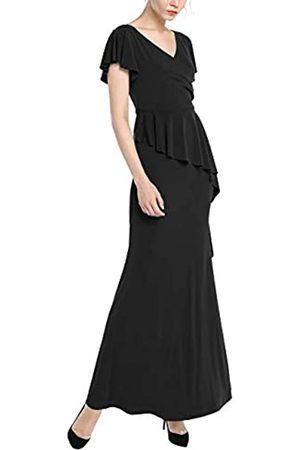 Apart APART Elegantes Damen Kleid, Abendkleid, mit V-Ausschnitt in Wickeloptik, mit Volant
