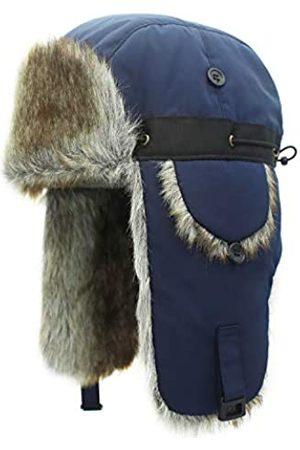Outfly Unisex Winter Bomber Mütze mit Ohrenklappen Weiche warme Fell Flieger Mütze Outdoor Trapper Mütze Russische Mütze
