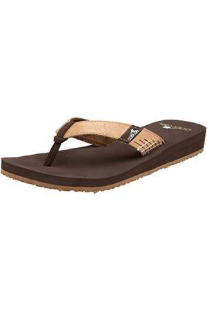 Cobian Damen Stitches Sandale, Braun (Schokoladenbraun)