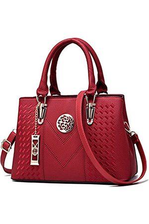 ALARION Damen-Portemonnaies und Handtaschen, Schultertasche für Damen, Designer-Schultasche, Messenger, Tragetasche, (2-red 1)