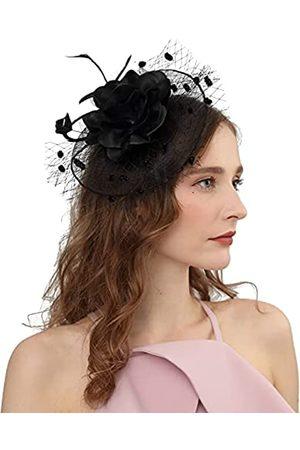Cizoe Fascinator-Hüte für Damen, 50er-Jahre-Kopfbedeckung, mit Schleier, Blume, Cocktail, Hochzeit, Tee, Party, Kirche