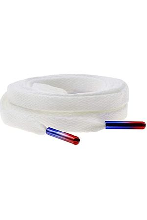 Miraclecat Flat Colorful Tips Shoelaces For Fashion Sneakers and Shoes White Color 140CM TIP04
