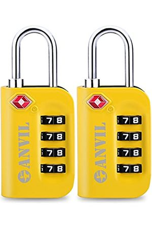 Anvil TSA Approved Luggage Lock - 4 Digit Combination padlocks with a Hardened Steel Shackle - Travel Locks for Suitcases & Baggage