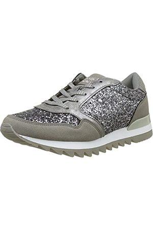 Molly Bracken Damen Basket Paillette Sneaker, (Silver)