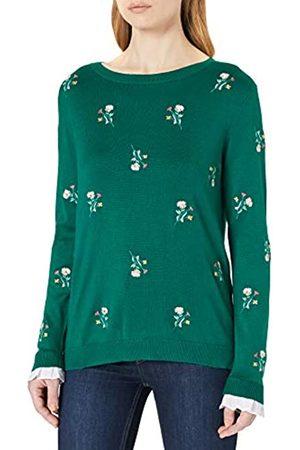 Springfield Damen Jersey Flores Bordadas Puños Bimateria Polo-Pullover