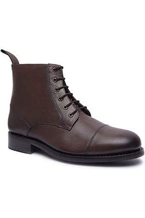 Allonsi | Thomas Herren Echtleder Chelsea Boots | Goodyear Welt Konstruktion | Klassische Chelsea Boots | Ledersohle | Handgefertigte Luxus-Lederschuhe, (Combat - .)
