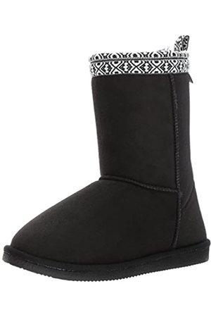 Western Chief Women Plush Slipper Boot Winter, Pawnee Black