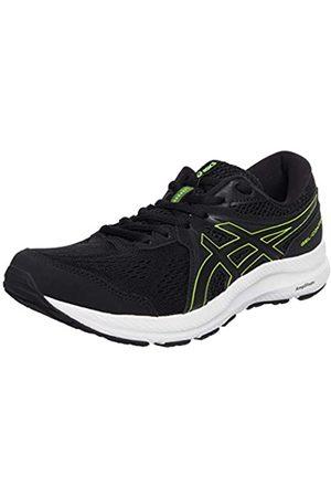 Asics Herren Gel-Contend 7 Road Running Shoe, Black/Hazard Green