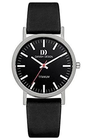 Danish Design DanishDesignIQ13Q199Damen-ArmbanduhrmitLederarmbandSchwarz