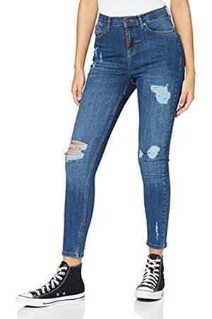 Gianni Kavanagh Damen Medium Blue Core Ripped Jeans