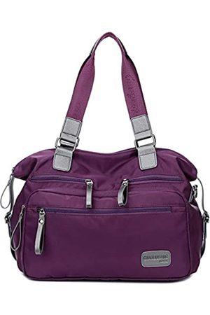SIMU Wasserdichte Nylon-Schultertasche Reisetasche Arbeit Tote Bag Home Health Krankenschwester Bag Stilltasche, (A Purple)