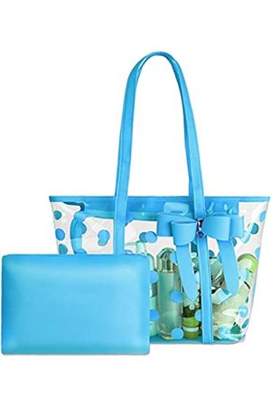 PG6 Wasserdichte PVC-Tragetasche für Damen, transparent, Schultertasche, Strandtasche, Einkaufstasche, Arbeitstasche