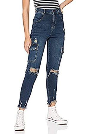 Gianni Kavanagh Damen Dark Blue Core Cargo Jeans