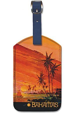 Pacifica Island Art Gepäckanhänger aus Kunstleder – Bahamas