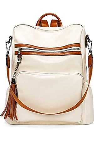 CLUCI Backpack Purse for Women Fashion Leather Designer Travel Large Ladies Shoulder Bags with Tassel
