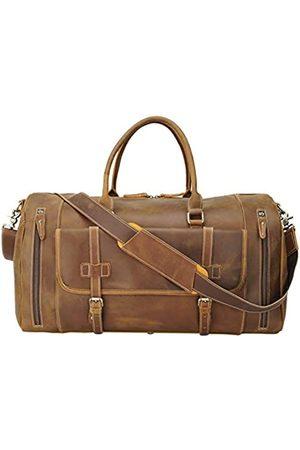 Texbo Herren-Reisetasche, 55,9 cm, professionell, italienisches Leder, Reisetasche