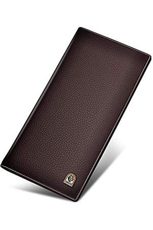 LAORENTOU Bifold Ledergeldbörsen für Herren, echtes Rindsleder, Geschenk-Box, Kartenhalter, schlanke Brieftasche, Herren, Business-lange Brieftaschen, lässige Herren-Geldbörsen, Geschenke für Herren