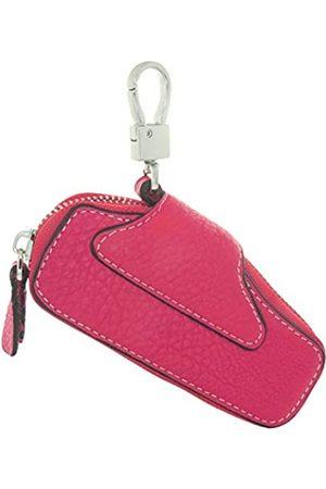 TimeMax Schlüsseletui aus Rindsleder, Schlüsseletui mit Druckknopf, Reißverschluss, Pink (003a6 )