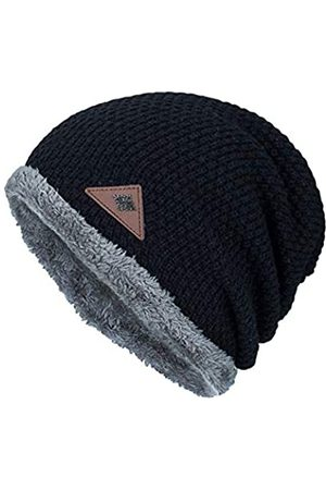 FABEILAI Herren Winter Skull Cap Beanie Große Strickmütze mit dickem Fleece gefüttert Täglich - - Einheitsgröße