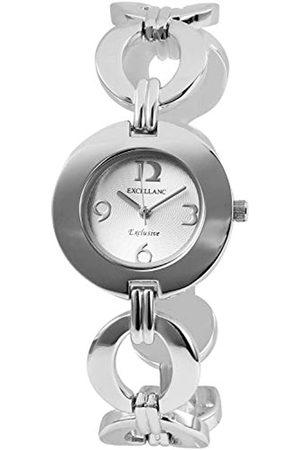 Excellanc Damen-Uhr Metallarmband Clipverschluss Elegant Analog Quarz 180322500013