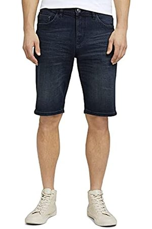 TOM TAILOR Herren 1025047 Josh Denim Bermuda Shorts, 10173-Dark Stone Blue Black
