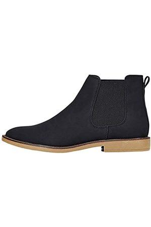 FIND Marsh Herren Chelsea Boots Stiefel, (Black Nubuck Look)