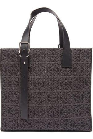 Loewe Anagram-jacquard Canvas & Leather Tote Bag