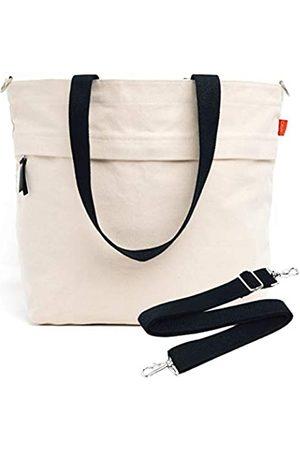 Caldo Canvas Market Tote – Große Reisetasche mit Außentasche mit Reißverschluss und verstellbarem Schultergurt (früher Abbot Fjord) - TOTEMODEL5
