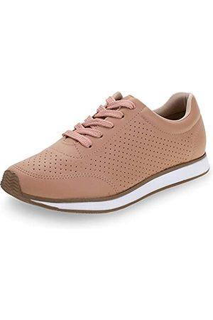 VIA MARTE Lässiger Damen-Sneaker, atmungsaktiv, zum Schnüren, hautfarben, Beige (rose)