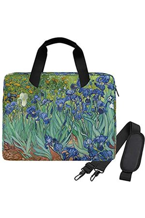 WIHVE Laptop-Umhängetasche Van Gogh Irises 15 14 13 Zoll Laptoptasche für Damen und Herren