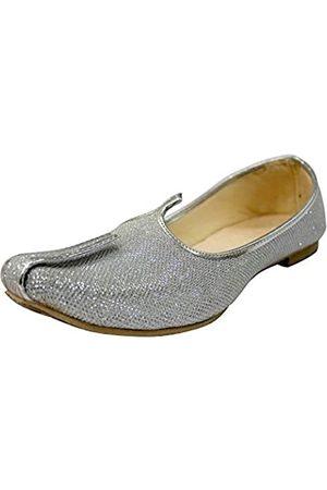 Step N Style Herrenschuhe mitglitzer, für Sherwani, indische Schuhe, Jutti Mojari für Herren