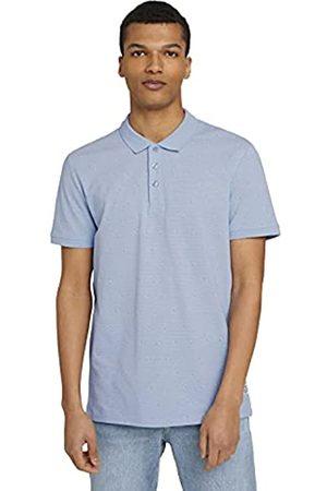 TOM TAILOR Herren 1025572 Alloverprint Poloshirt, 26964-Blue Dot Triangle Print