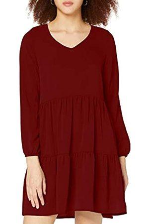 Authentic Style Damen V-Ausschnitt mit Druck Formales Kleid